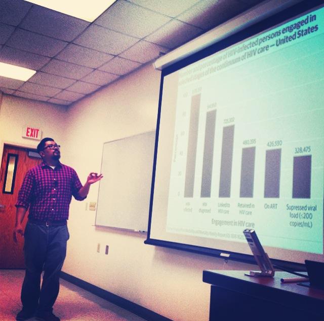 Jordan Delmundo discussing treatment cascade